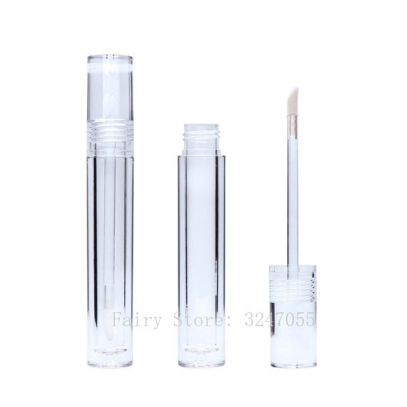 Прозрачный контейнер для блеска для губ, 5,5 мл, Пустые контейнеры для губной помады 25/30/50 штук, прозрачные контейнер для блеска для губ