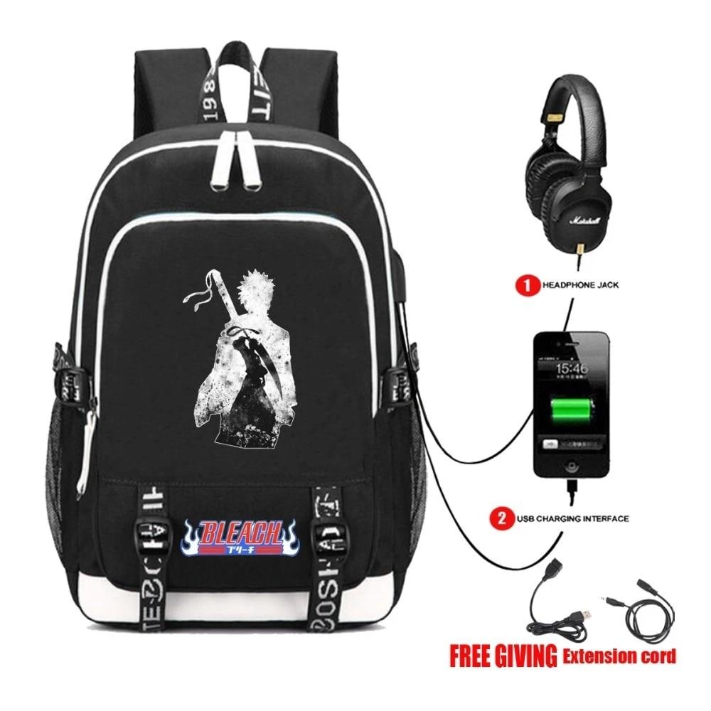 Bleach Zaraki kenpachi  Backpack Shoulder  travel Student bag Rucksack