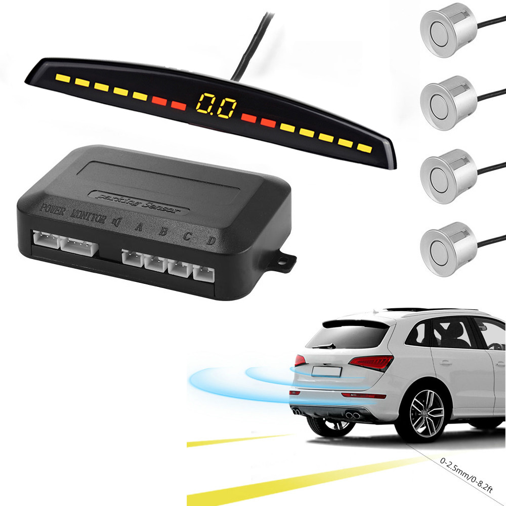 YASOKRO Car Parking Sensor Auto Parktronic LED Display Reverse Backup Car Parking Radar Monitor Detector System With 4 Sensors