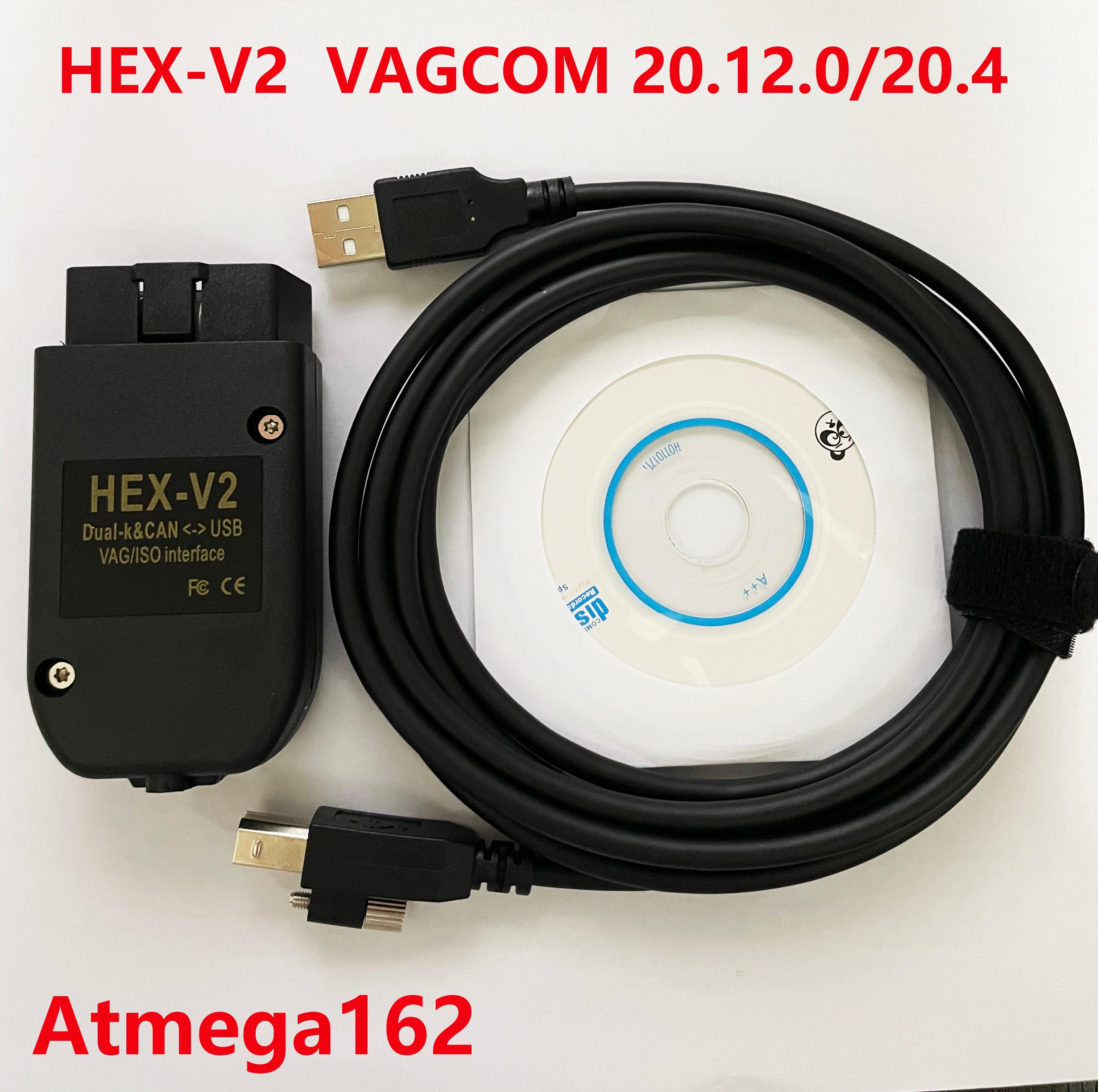 Vagcom 20.4.2 vag com 20.4 mais novo VC-DS hex v2 interface para vw audi skoda seat vag 20.4 inglês polonês alemão francês espanhol