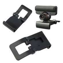 For PS EYE TV Clip Mount Holder Stand for PS3 MOVE Xbox Camera Games Controller Fixed Bracket Camera Cam Accessories Black