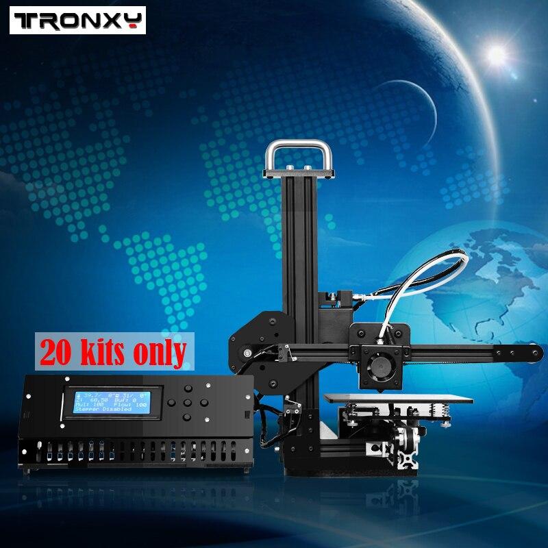Tronxy образование 3d принтер DIY Набор Высокоточный Настольный алюминиевый профиль 3d Imprimante X1 3d машина