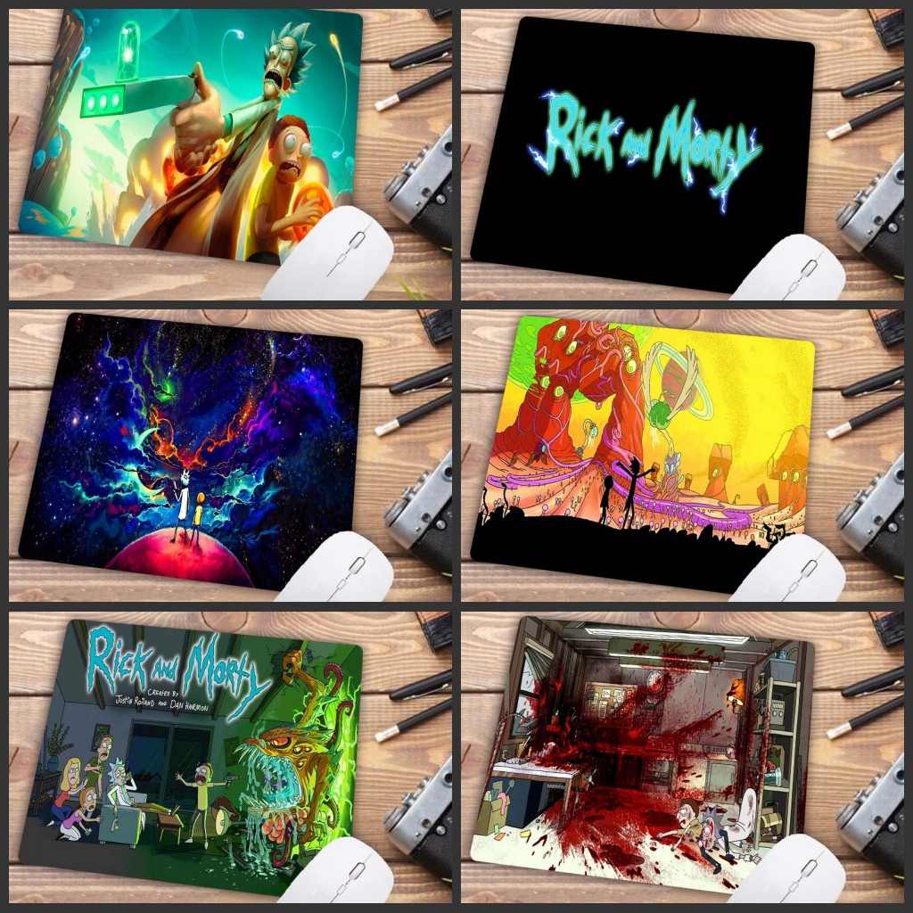 XGZ  Big Promotion  New Printed Anime Rick And Morty AnimeSmall Mouse Pad PC Computer Mat Size For18X22CM Game Mousepad
