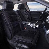 2019 DJSona Universal Winter Car Seat Cover Warm Plush Cushion Faux Fur For Car Seat Protector Mat Car Interior Accessories