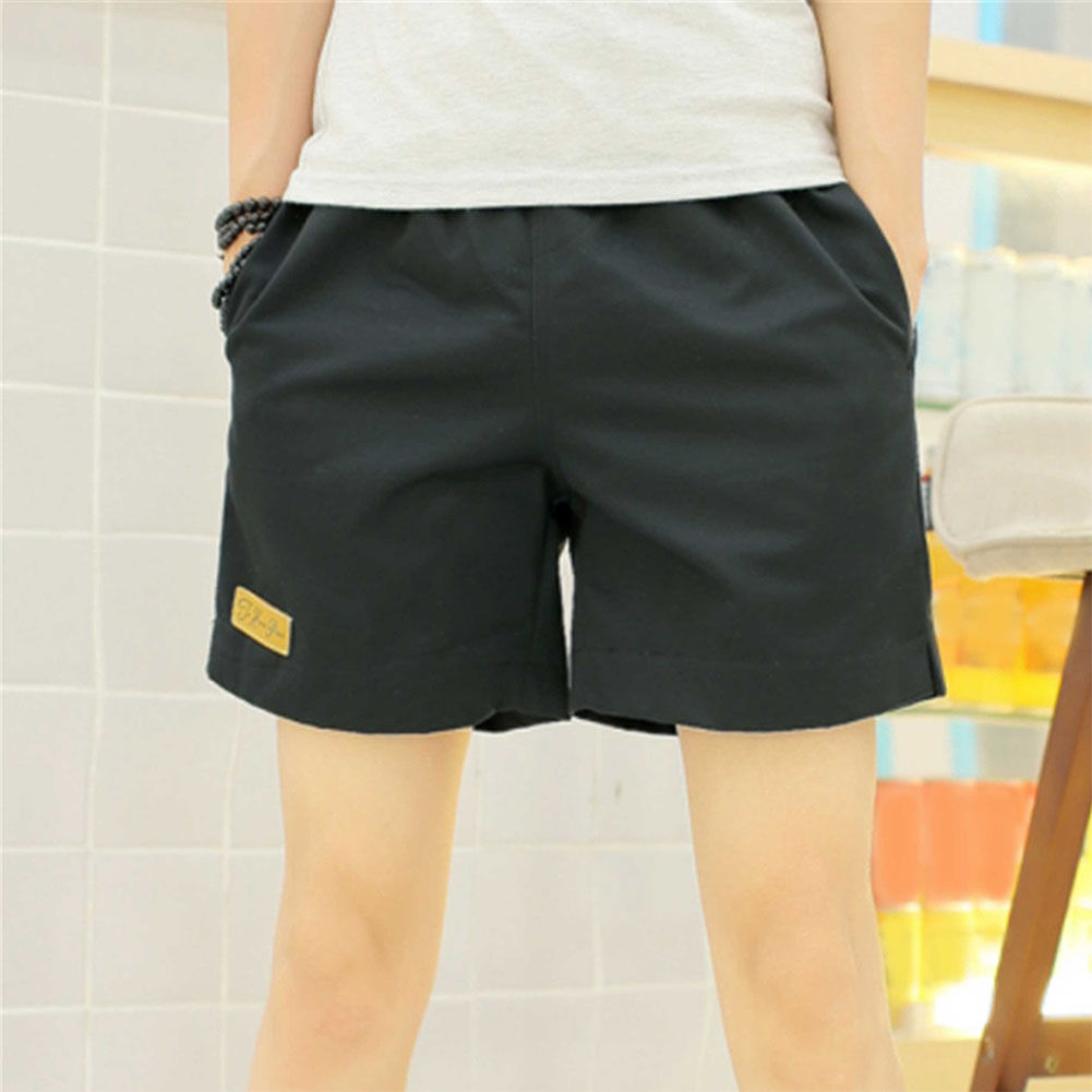 Fashion Casual Cotton Blend Breathable Gift Men Shorts Sports Gym Outdoor Joggers Solid Summer Beach Loose With Pockets