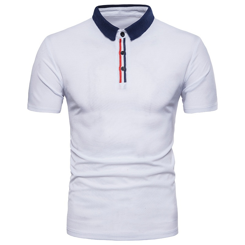 ZOGAA Business Mens Polo Shirt Brand Clothing Summer Short-sleeved Patchwork Polo Para Male Lapel Slim Cotton Casual Polo Hombre