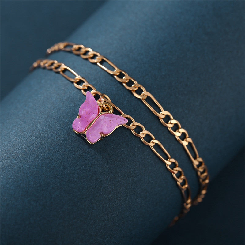 17KM Fashion 2020 New Butterfly Anklets Set for Women Drop shipping Vintage Gold Color Anklet Beach Foot Bracelet BOHO Jewelry