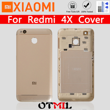 Metal Back Cover Housing For Xiaomi Redmi 4X With Glass Lens Side Keys Back Battery Cover Rear Housing For Redmi Mi 4X Back Case luanke 3d relief kickstand cover case for xiaomi redmi 4x