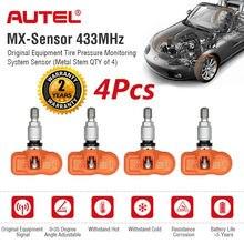 AUTEL TPMS Sensore Sensore di 2 in 1 433 & 315 Mhz MX Sensore Auto Universale di Screw In di OE livello Programmabile Sensore di Monitoraggio Della Pressione Dei Pneumatici