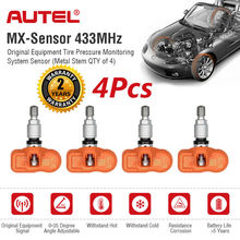 AUTEL capteur TPMS 2 en 1, 433 et 315 Mhz, capteur MX universel Auto, vis automatique au niveau OE, capteur Programmable, moniteur de pression de pneu