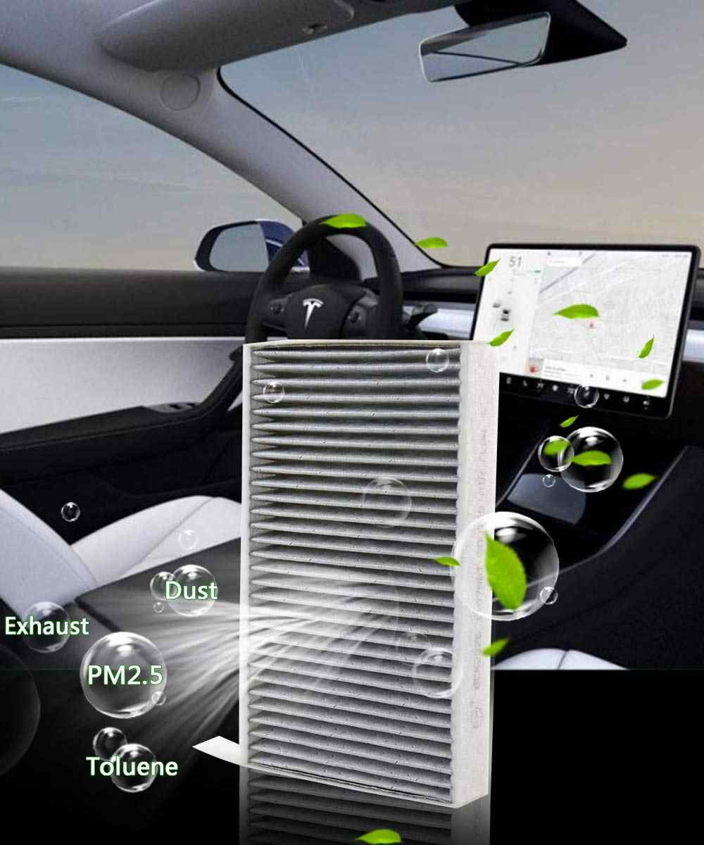1pc Car Cabin Air Filter Replacement With Activated Carbon For Tesla Model 3 2017 2018 2019 Car Air Conditioning Filter