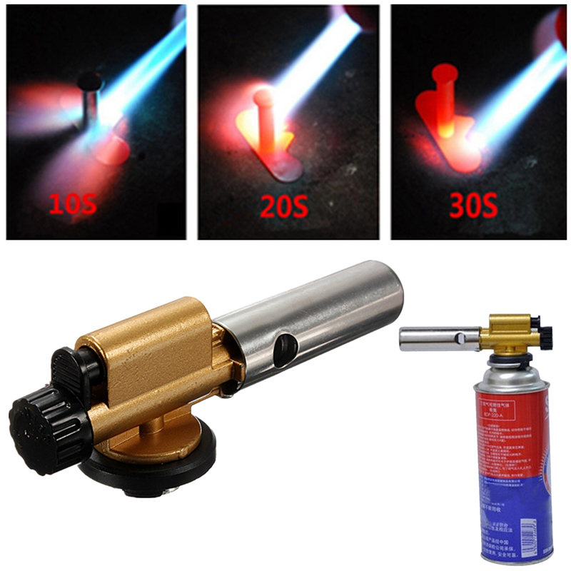 Butane Blow Welding Torchs Auto Flamethrower For Soldering Outdoors Picnic Cooking BBQ Adjustable Portable Lighter Flame Torch