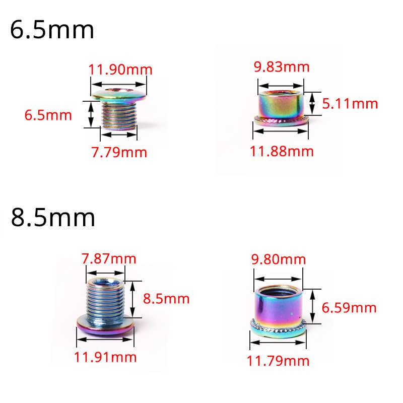 7Colors 5PC//Set Mountain Bike Disc Screws Bike Chain Screws Wheel Bolt 4.9//6.4mm