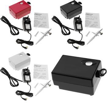 0.4mm Gravity Feed Airbrush Single Action Makeup Air Compressor Kit фото
