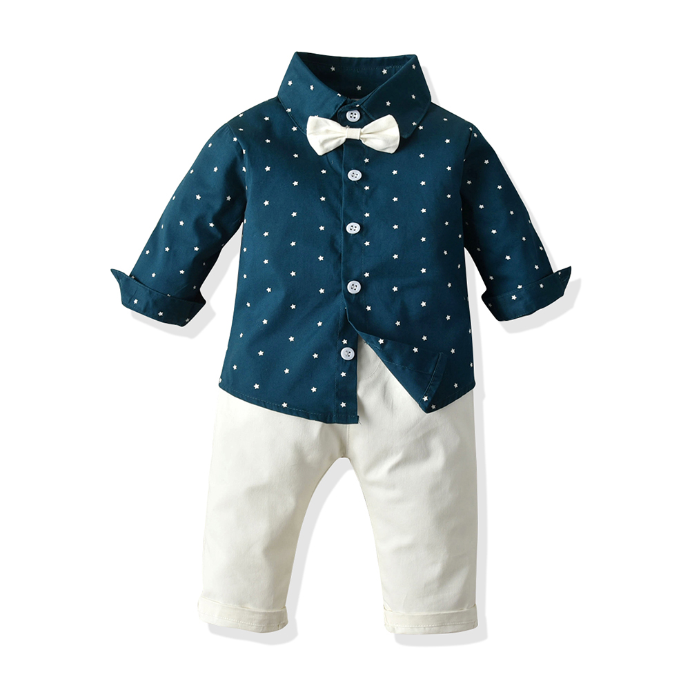 Top and Top Fashion Boys Clothes Set Outfits  Formal Party Top Pants 2Pcs Kids Costume Children'S Wear Casual Clothing Suits 1