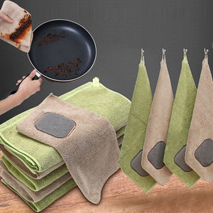 Dishcloth Cleaning cloth bu zhan you Household Magic Linen Kitchen Oil-free Partly as a Result of ca zhuo bu Absorbent Domestic