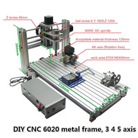 Maszyna do cięcia cnc router 6040 DIY 6020 wiercenie metali frezowanie z 600X200mm grawerowanie rozmiar w Frezarki do drewna od Narzędzia na
