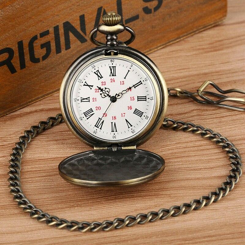 Quartz Pocket Watch Numeral To My Son Love Roman Round Display Vintage With Gift Box SSA-19ING