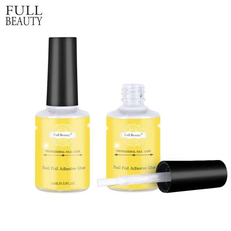 15ml Glue For Nail Foil Star Starry Sky Transfer Sticker Adhesive  No Need  Curing UV Lamp Nail Polish Gel Manicure Tools CH947