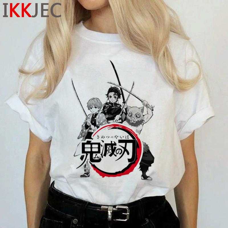 Demon Slayer Harajuku Anime T Shirt Women Kimetsu No Yaiba Ullzang Funny Cartoon T-shirt 90s Cool Tshirt Graphic Top Tees Female 9