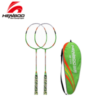 купить HENBOO Iron Alloy Professional Badminton Racket Set Family Double Badminton Racket Lightest Durable Standard Use Badminton 2325 по цене 923.31 рублей