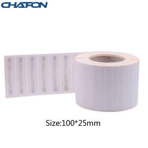 Image 4 - 50 Stuks 73.5*21.2Mm Rfid Gen2 Uhf Papier Tag Met U8 Chip Gebruikt Voor Warehouse Management