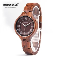 Luxury Wood Watch Women Magnetic Female Clock Quartz Wristwa