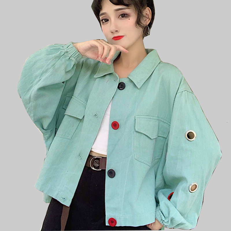 Oversized women Bomber Jas BF Harajuku   Jackets   for Women Hole Long Mouths   Basic     Jackets   Loose Women's   Jackets   Outrunner