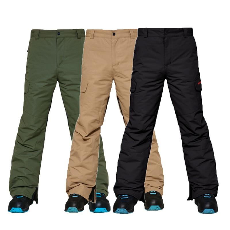 Warm Winter Ski Pants Men Windproof Waterproof  Snowboard Pants Male Breathable Snow Skiing Trousers Outdoor -30 degree