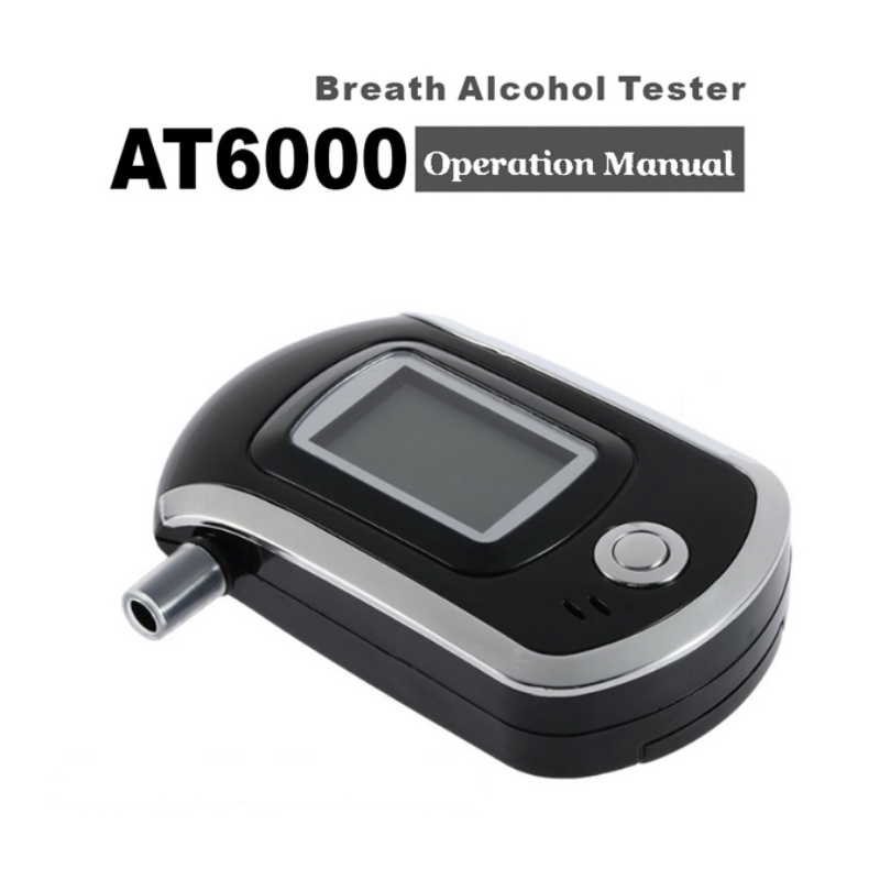 Top Professional Digital Breath Alcohol Tester Breathalyzer With LCD Dispaly With11 Mouthpieces AT6000 Hot Selling Dfdf