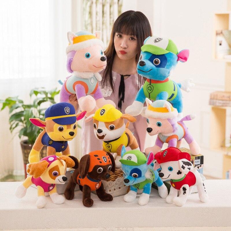 20cm Paw Patrol Dog 6 Color Plush Toys Soft Puppy Canine Keychain Plush Dolls Canine Broadcast The Hit TV Cartoon Animation 26M