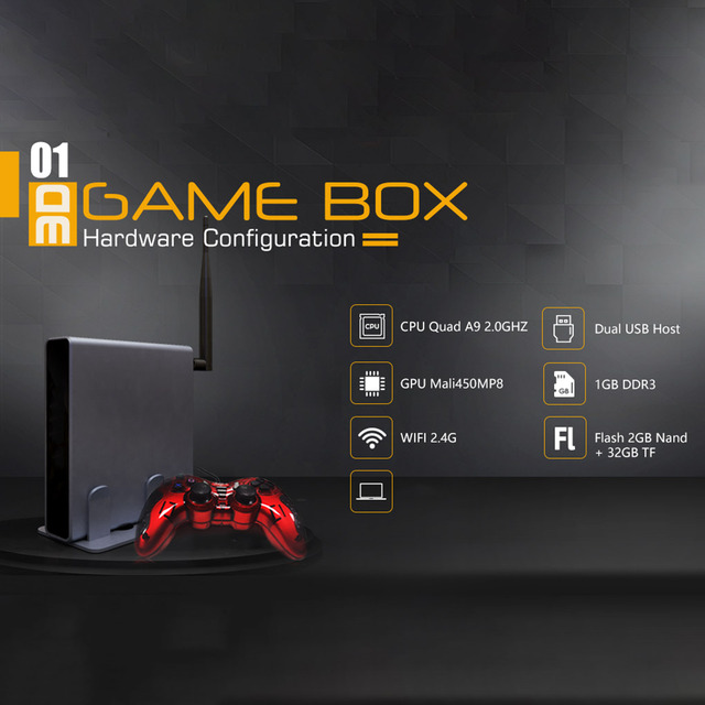 4K HDMI TV Gaming Host 2323 Games Emulator 3D Video Game Console Box With USB Wired Gamepad Controller EU US Plug 1