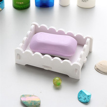 Portable Soap Dishes Creative simple Bathroom Artificial Wood Wooden Dish Storage Holder Soapbox