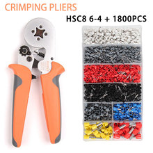 HSC8 6-4 1800PCS Terminal Crimping Pliers Wire Stripper crimping tool set Crimper Ferrule terminals clamp kit tools