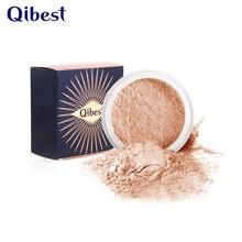 цена Qibest Professional highlighter refreshing long-lasting oil control concealer waterproof powder makeup powder  5 colors beauty в интернет-магазинах