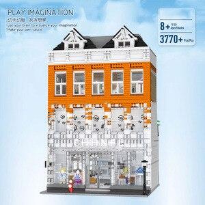 Image 5 - Город МОС, уличные кирпичи, антикварная коллекция, магазин, совместимый с lepined Creator 10185 Green Grocer, модель, строительные блоки, DIY игрушки