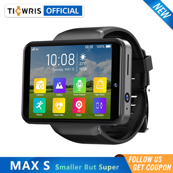 """Ticwris Max S 4G Android Smart Watch For Men 2.4"""" Display Face ID 2000mAh 3GB 32GB 8MP Dual Camera GPS Bluetooth Smartwatch 2021 1"""