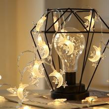 3M 20LED Звездная луна фея гирлянда струнный светильник s Новинка светильник на год Рождество Свадьба украшение дома AA батарея питание
