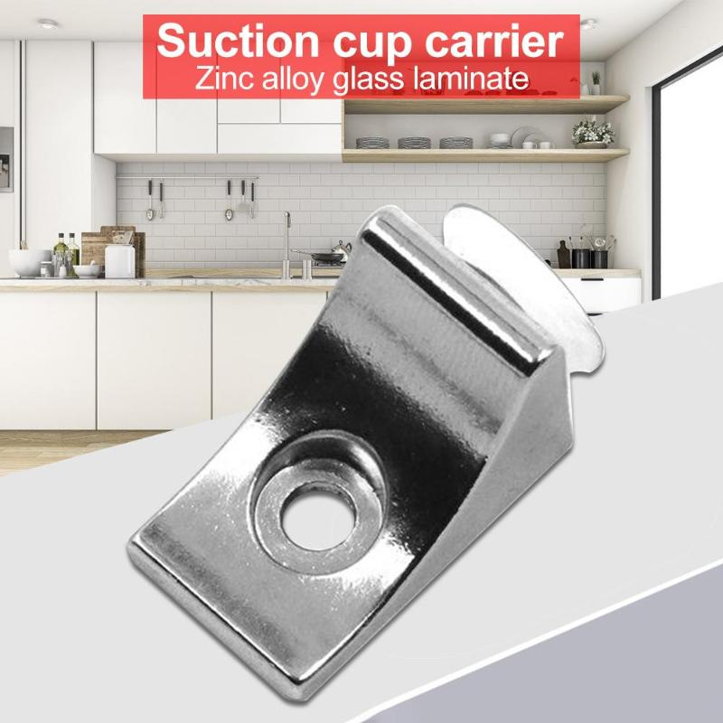 10pcs Right Angle Glass Shelf Suction Cup Fixing Support Clip Bracket Clamp  Glass Holder  Glass Shelf Bracket