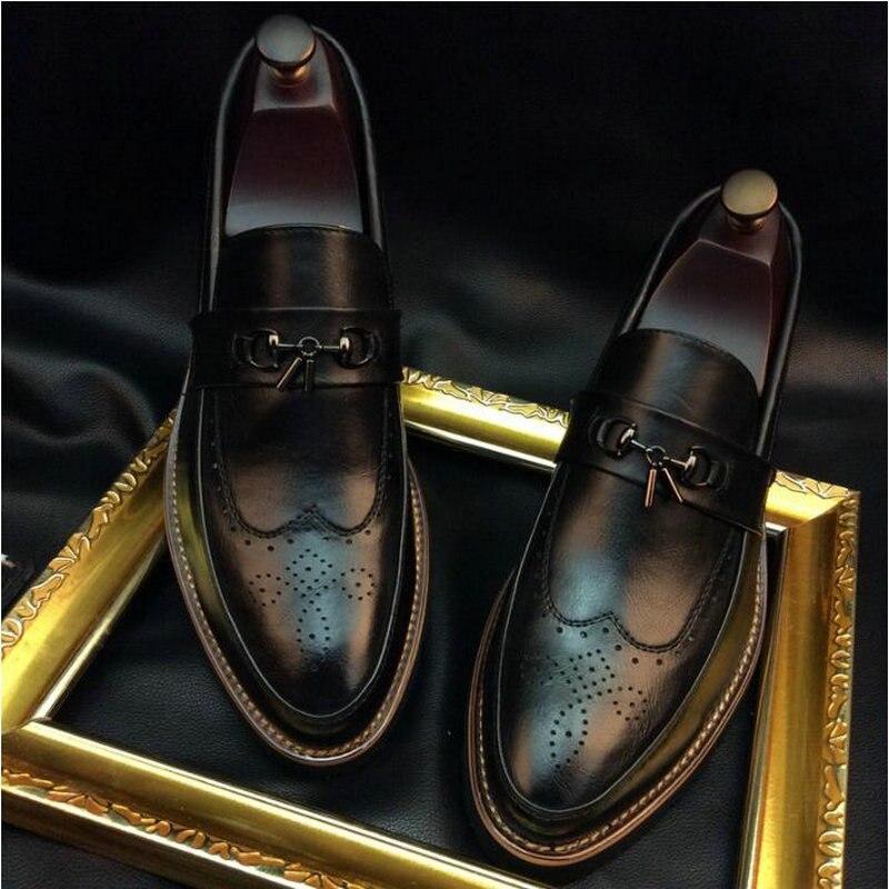 Zapatos formales de negocios para hombres de alta calidad, zapatos Brogue para hombres, zapatos informales de cuero tallado estilo británico con borlas, OO-65 oxford de negocios Marca DEKABR, mocasines suaves de estilo veraniego a la moda para hombres, zapatos de piel auténtica de alta calidad, zapatos planos para hombres, zapatos de conducción Gommino