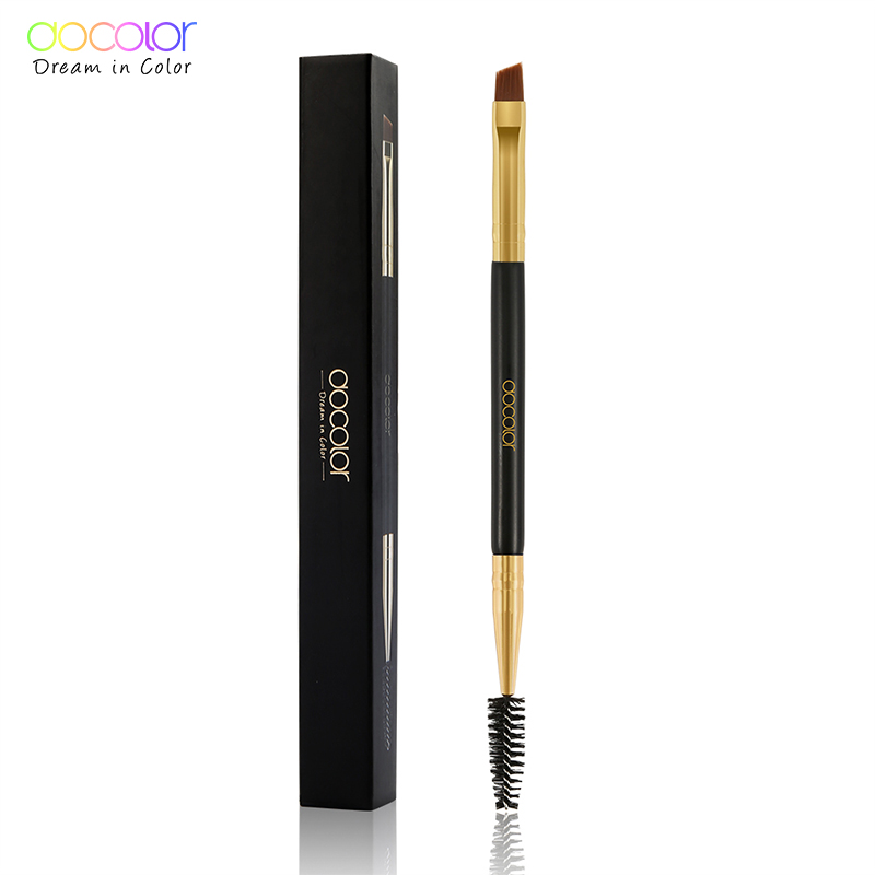 Docolor New Eyebrow Brush Makeup Brush Eyebrow Brush Eyebrow Comb Double Ended Brushes Beauty Blending Eye Pinceaux Maquillage