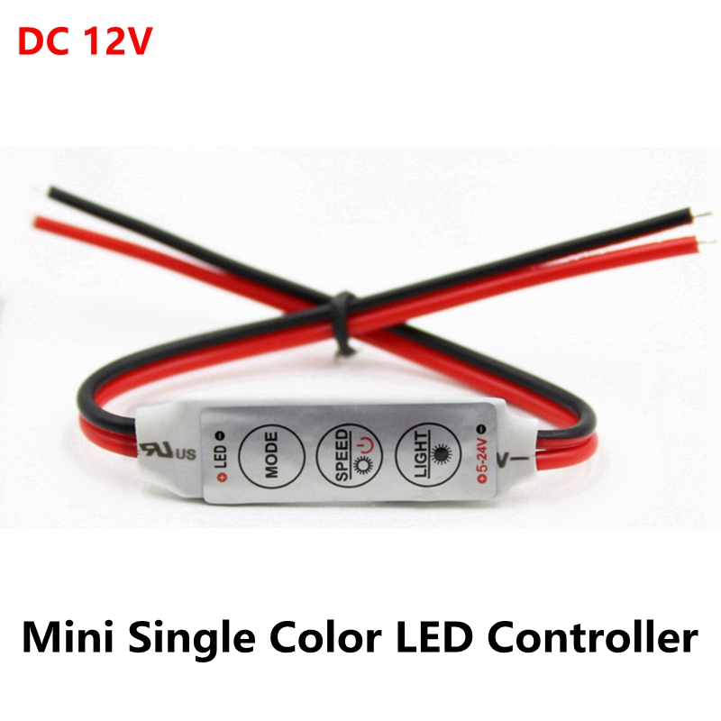 DC 12V 3*4A Mini Led Controller Dimmer Driver To Control Single Color Led Strip Light SMD 2835 3528 5050 5630 3014
