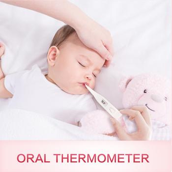 Sinocare termometr gospodarstwa domowego na gorączkę cyfrowy podstawowej termometr do pomiaru temperatury ciała jamy ustnej pod pachami lub temperaturę w odbycie elektroniczny LCD wyświetlanie tanie i dobre opinie CHINA NONE medical PVC TERMOMETRY