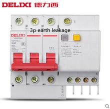 цена на 1PCS DZ47sLE 3P short circuit and Leakage protection residual current Circuit breaker DPNL 3P 40A 63A 380V