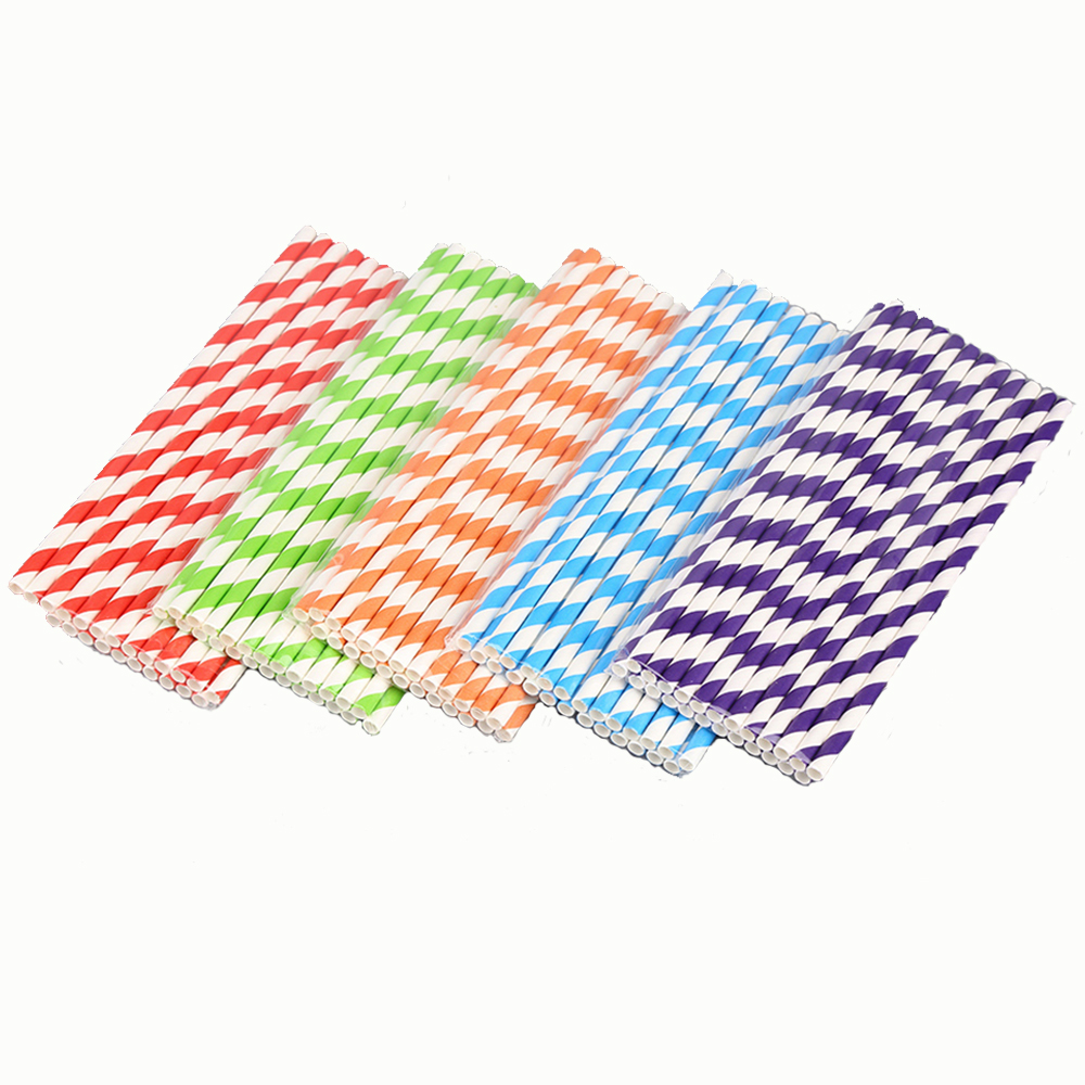 25Pcs Drinking Paper Straws Baby Shower Wedding Birthday Straw Halloween Christmas Gift Party Party Event Supplies