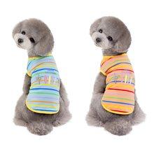 Цветная полосатая одежда для маленьких собак модный хлопковый