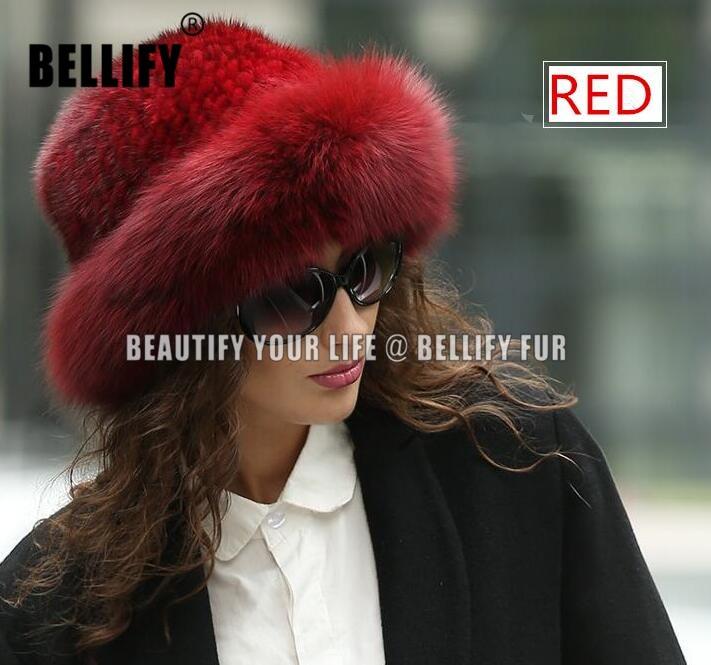 Ruské styl princezny Ženy pletené přírodní Mink kožešiny Klobouky luxusní Nové kolekce 2019 Fox Fur Female čepice pokrývky hlavy