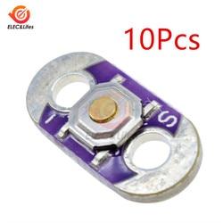 10Pcs Lilypad Drukknop Board Module Voor Arduino Diy Kit Verlichting Accessoires Schakelaar