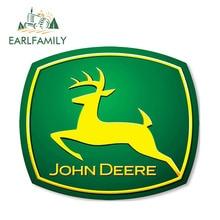 EARLFAMILY 13cm x 11cm Vinyl Stickers for JOHN DEERE Farm Tractor Gator AUTO MOTO Car Skate Tuning B 39 Decal Gas Fuel Tank Cap цена