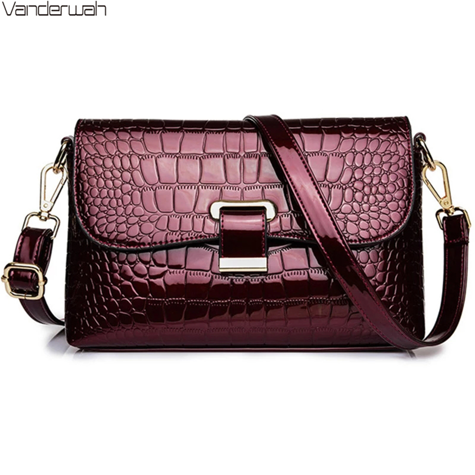 Elegant Ladies Luxury Handbags High Quality Women Alligator Pattern Shoulder Bags Designer Brand Messenger Bags For Women 2020